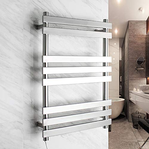 JackeyLove Beheiztes Handtuch-Bathroom Radiator Designer Flat Panel-740 * 520 * 120mm-67W Silber