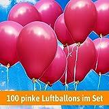 Luftballons für Hochzeit - 100 pinke Luftballons - Luftballons Helium geeignet