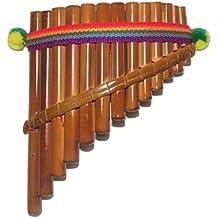 Bonita figura decorativa 13tubos curvado–Flauta de Pan artesanal hecho a mano en Perú