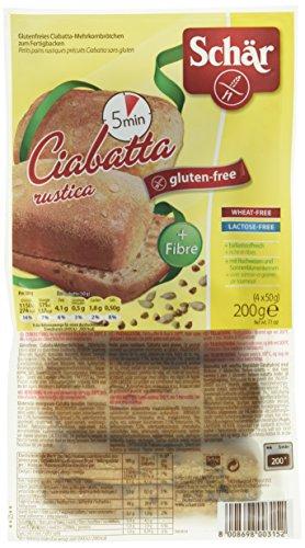 Schär Ciabatta Rustica-Mehrkornbrötchen, 6er Pack  (6 x  200 g Packung)