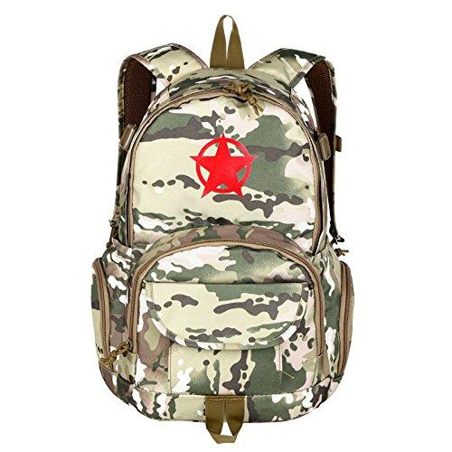 Outdoor Rucksack Camouflage Camouflage Double Shoulder Bag student Tasche Freizeit Sport reisen Rucksack 45 * 28 * 16 cm, Wüste, 20-35 Liter Cp