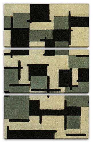 Printed Paintings Leinwand 3-teilig(80x120cm): Theo von Doesburg - Komposition XIII
