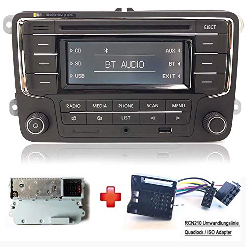 Car Radio Stereo RCN210 +Cabel Bluetooth CD MP3 USB AUX SD for VW GOLF  PASSAT TOURAN JETTA POLO TIGUAN CADDY EOS CC