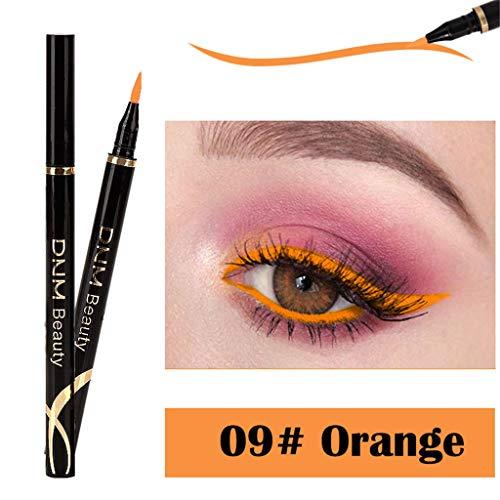 Black Fire Hat (Cwemimifa Liquid Effect Pencil Black Fire,Metallic Shiny Smoky Eyes Eyeshadow Wasserdichter Glitter Liquid Eyeliner,I)