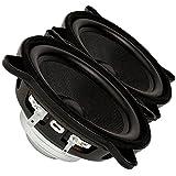 """Pair Faital PRO 4FE32 4"""" Neodymium Full Range LineArray Woofer Speaker 8ohm 60W"""