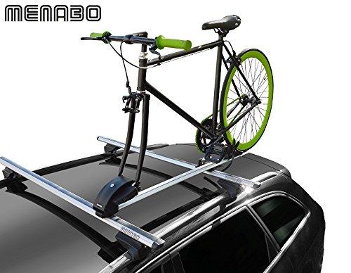 MENABO PRO Tour Portabici Auto Posteriore, Argento, per 1 Biciclett