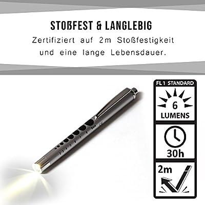 [Diagnostikleuchte] Professionelle LED Lampe • stoßfest | weißes Licht | mit Messstab