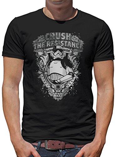 h The Resistance Ornaments T-Shirt Herren S Schwarz ()