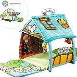 3 in 1 XXL Krabbeldecke mit Spielbogen Spielhaus für kleine Kinder Babies Krabbelspaß Gymcenter...