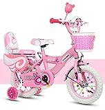 Geekbot Vélo Enfant Fille 14 Pouces - Velo Enfant de 4-9 Ans - Pneu Gonflable...