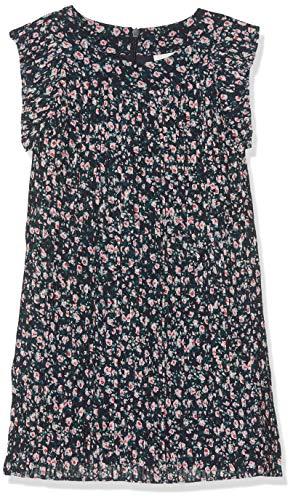 NAME IT Mädchen NMFLIRI Pleat Spencer Kleid, Mehrfarbig Dark Sapphire, 122 (Herstellergröße: 122/128)