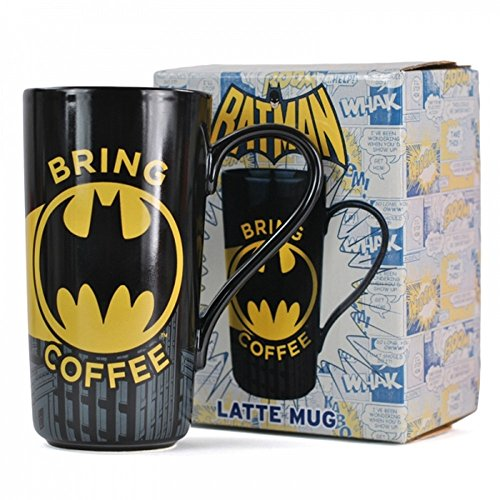 DC Comics - Batman - Keramik Latte Macchiato Tasse - Bring Coffee - - Collectors Superman Kostüm