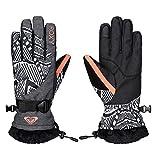 Roxy Damen Gloves Merry Go Round, Mauritius Daze Egret, L, ERJHN03031