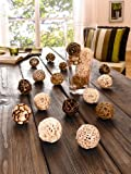 "decorative ball ""nature"" set of 20"