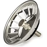 Andrew James Sink Strainer Plugs for use in Kitchens and Bathrooms | Stainless Steel | 83mm Diameter