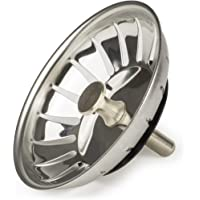 Andrew James Sink Strainer Plug for use in Kitchens and Bathrooms | Stainless Steel | 83mm Diameter