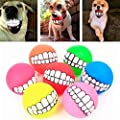 XXWG Pure Color Rubber Pet Cat Round Circle Puppy Play Funny Chewing Toy