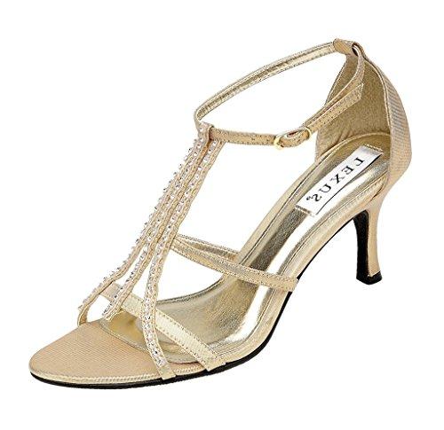 LEXUS , Sandales pour femme Or - Gold Textile