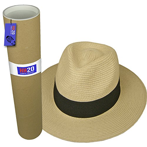 hey-hey-twenty-mens-ladies-packable-fedora-sun-hat-with-travel-tube-panama-trilby-style-60cm-xl