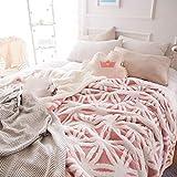 FOREVER-YOU Flanell Lamm Fleece Decke Decke Dicke Wolldecken Winter Kleine Mittagsschlaf und 1,3 * 1,6 M,