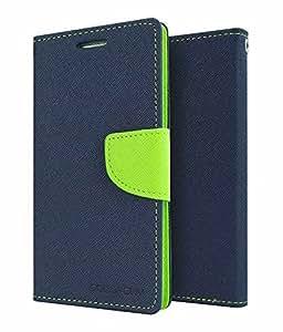 SamsungGalaxyE5 Luxury Flip Cover Diary Wallet Mercury Case For SamsungGalaxyE5 Flip cover By Vinnx (Blue)