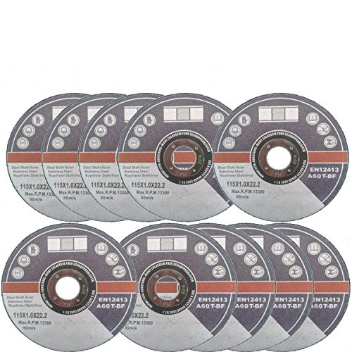 10 Stck. Trennscheiben Ø115 mm Flexscheiben Inox Edelstahl Metall Extradünn 1 mm