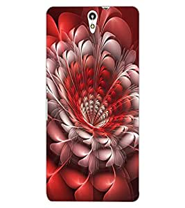 ColourCraft Beautiful Flower Design Back Case Cover for SONY XPERIA C5 ULTRA DUAL
