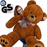 Deuba Teddy | Größe XL 165cm | Farbe Braun | Teddybär Kuscheltier Stofftier Plüschbär Braunbär Plüschtier Teddi