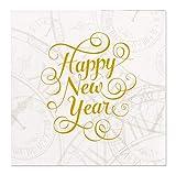 Servietten (2er Set / 32Stück) 3-lagig 25x25cm Silvester Neujahr Happy New Year
