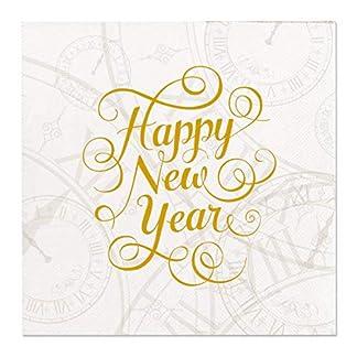 Home Collection Servilletas de Papel (Set de 2 / 32 Unidades ) 3 Capas 25×25 cm Happy New Year – Feliz Año