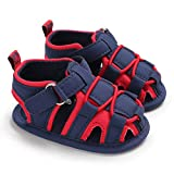 Misifeng First Walking Shoes Baby Boys Girls Summer Outdoor Open Toe Leather Sandals