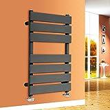 NRG 650x400 Flat Panel Heated Towel Rail Bathroom Rad Radiator Anthracite