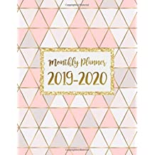 Monthly Planner 2019-2020: January 2019 - December 2020 Monthly Calendar Planner with unruled daily blocks