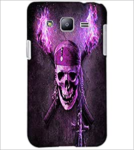 PrintDhaba Pirate Skull D-4844 Back Case Cover for SAMSUNG GALAXY J2 (Multi-Coloured)