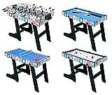 HLC 121.5*61*81.3 CM Klappbar 4 in 1 multifunkniertes Tischspiel -- Tischkiker/Tischtennis /Air Hockey /Billard-Tisch