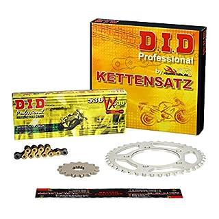 Kettensatz / Kettenkit Suzuki GSF 1200 Bandit, 1995-2005, Typ GV75A, A9, DID X-Ring (VX gold) extra verstärkt