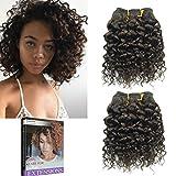 Emmet 8pollice extension capelli veri ricci corto umani brasiliani naturali ondulato remy Kinky Curly donna afro 50g/pezzo 2pezzo(i)/pacco(2#)