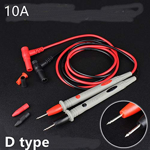 HLSGPPL 10A 1000V Needle Point Multi Meter Test Probe Wire Pen Cable/Lead for Digital Multimeter for Tester Such Fluke