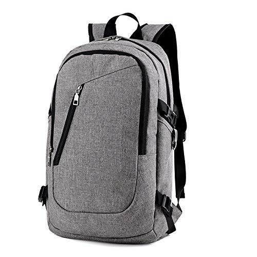 KHDJH Rucksack Rucksack Anti-diebstahl wasserdichte Daypacks Mit USB Charging Design Schule Bagpack Casual Travel Business Rucksäcke E Grau