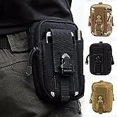 ZhaoCo Tactical Pouch ist mit großer Kapazität für die Aufbewahrung von Telefon, Brieftasche, Taschenlampe, Stift und anderes Zubehör konzipiert. Der Beutel hat zwei Reißverschluss-Haupttaschen, eine zusätzliche Handytasche (passt Telefongröße bis 5,...