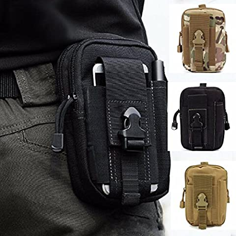 ZhaoCo Multi-Purpose Poly Tool Holder, Tactical Molle EDC Pouch Utility Gadget Belt Waist Bag with Cell Phone Holster for Sports Hiking Camping - Camouflage