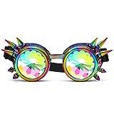 DAY.LIN Ray Ban Sonnenbrille Damen Kaleidoskop bunte Gläser Rave Festival Party EDM Sonnenbrille Beugungslinse (Mehrfarbig)