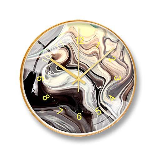 LYJZH Wanduhr Moderne Clock Uhr Mode einfache Wohnzimmer Küche Restaurant Schlafzimmer Wanduhr Bunte Mode dekorative hölzerne Uhr D 12 Zoll