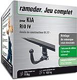 Rameder Attelage rotule démontable pour KIA Rio IV + Faisceau 13 Broches...