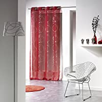 Amazon.fr : Rouge - Voilages / Décoration de fenêtres : Cuisine & Maison