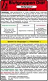 Image de Blutgruppen Diät - Blutgruppe A - Medical Card