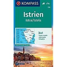 Istrien, Istra, Istria: 3in1 Wanderkarte 1:75000 mit Aktiv Guide und Ortsplänen. Fahrradfahren. (KOMPASS-Wanderkarten, Band 238)