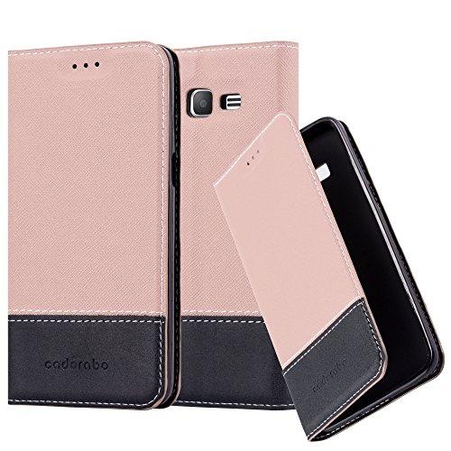Cadorabo Funda Libro para Samsung Galaxy Grand Prime en Rosa Oro MARRÓN - Cubierta Proteccíon con Cierre Magnético, Tarjetero y Función de Suporte - Etui Case Cover Carcasa