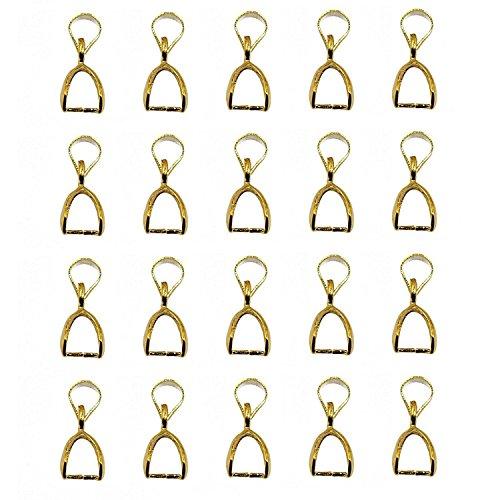 �nger Prise Bail Stecker 10 mm Armband Halskette Schnalle Anschlusszubehör Schnalle Verschluss Schmuck machen 20 Teile Gold (Anhänger Bails)