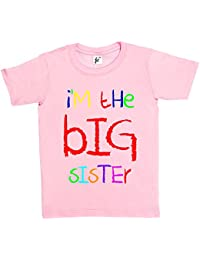 I'm The Big Sister Funny Cool Gift Kids Girls Cotton Short Sleeve T-Shirt Various Colours Available - Sizes 1 Year Old - 14 Year Old